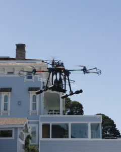 The Mansion at Casa Madrona Champagne Drone Service In Flight